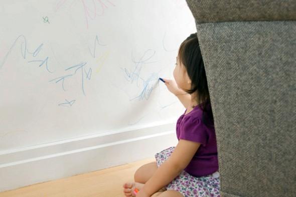 KIDS MESS CRAYON ON WALLS