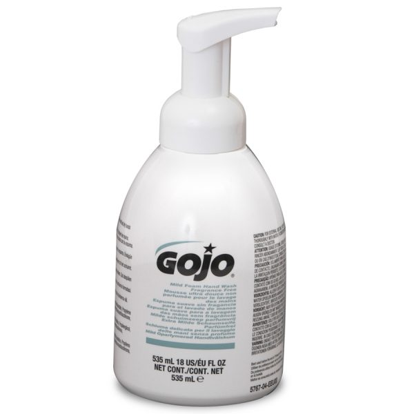4 x Gojo Pump Bottle Mild Foaming Hand Wash 535ml