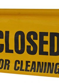 SYR Closed For Cleaning Sign