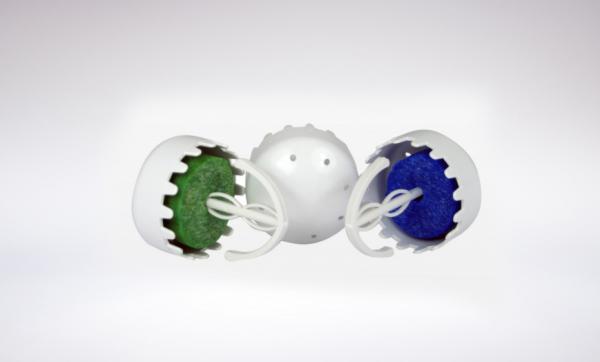 BIO-P TUB 12 BLUE URINAL CAPS
