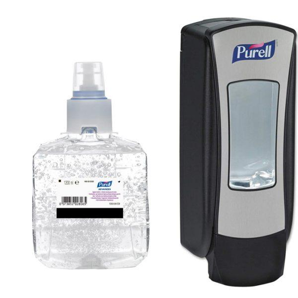 Purell ADX-12 Advanced Hygienic Hand Rub 3x 1200ml with FREE Dispenser