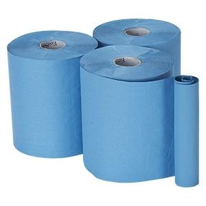 Bay West Roll Towel 1ply Blue 6  x 155m
