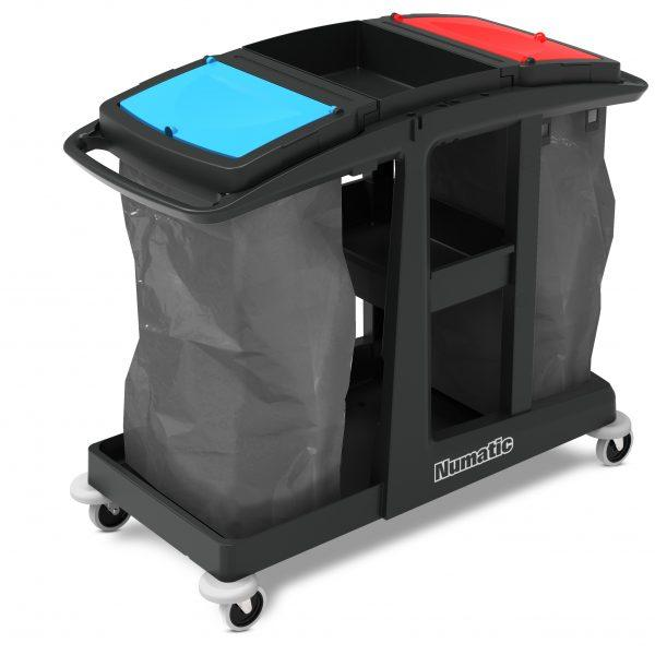 Numatic ECO-Matic EM4 + EM6 Cleaning Trolleys