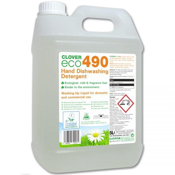 5L Clover Eco 490 Washing Up Liquid