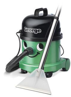 George with carpet tool