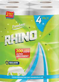 Rhino Kitchen Rolls 6 x Pks of 4 White 2 Ply 50 Sheets