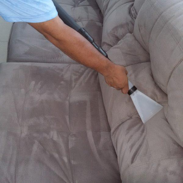 I want to clean grease, hair oil and body contact soils from my fabric sofa