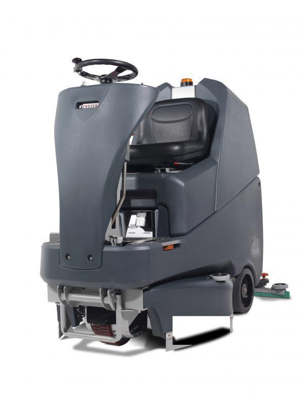 TRG.720/200T Ride-On Scrubber Dryer 72cm Scrub Width 120L Capacity 5.5Hr Run Time
