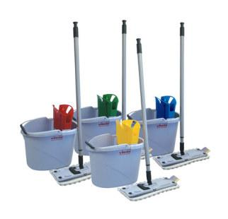 colour coded flat mopping kit