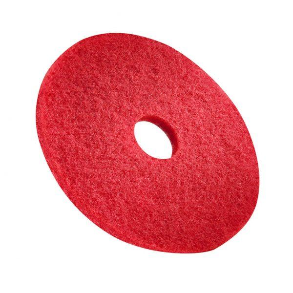 Box of 5 Bright Red Polishing Floor Pads