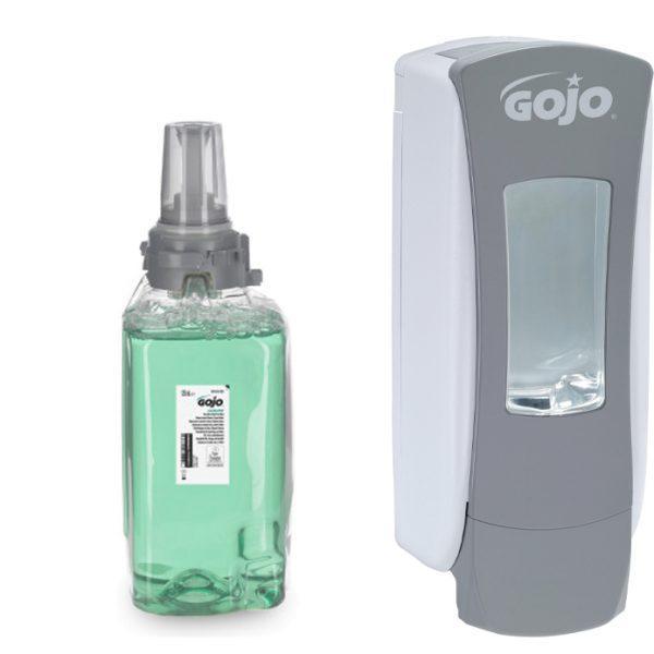 GOJO ADX-12 Luxury Hair, Body & Hand Foam Wash ADX Cucumber Fragrance 3x 1250ml with FREE Dispenser