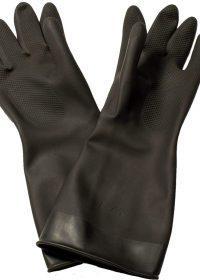 Black Rubber Gloves - 1 Pair