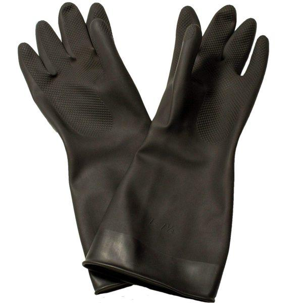 Black Rubber Gloves - 1 Pair