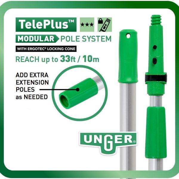 Unger TelePlus Telescopic Pole 1.25m Sections