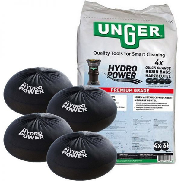 Unger Hydropower Quick Change Resin Bag 4x 6L Bags