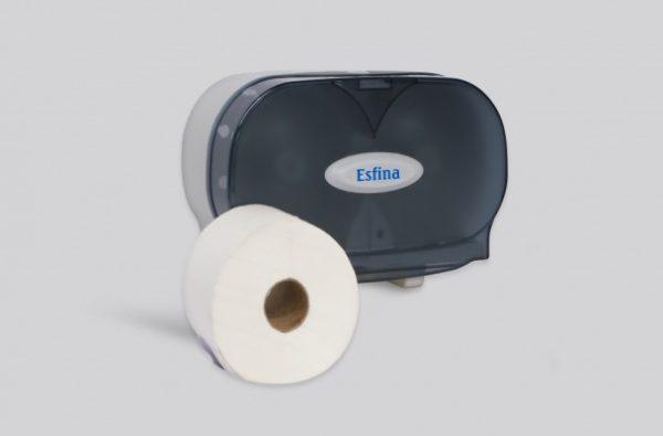 Micro Jumbo Dual Toilet Roll Dispenser