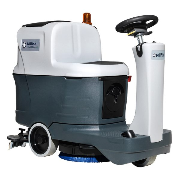 Nilfisk SC2000 Micro Ride-On Battery Scrubber Dryer