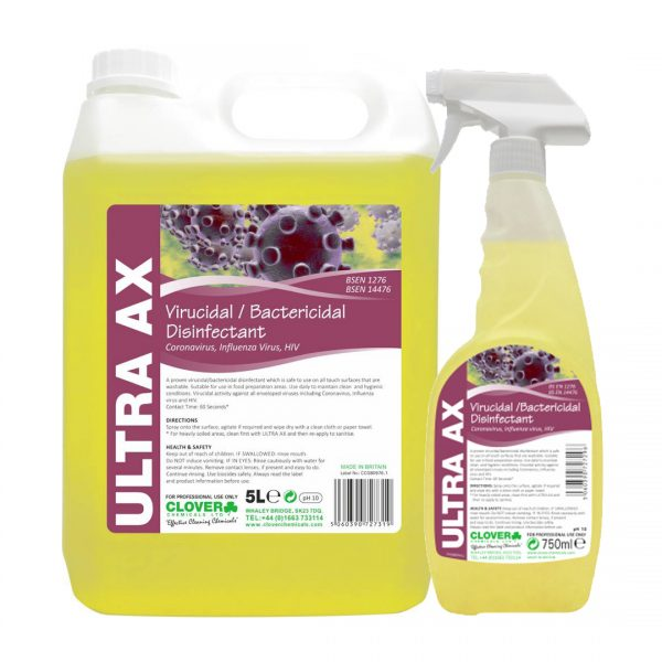 Clover Chemicals Ultra AX Effective Against Coronaviruses