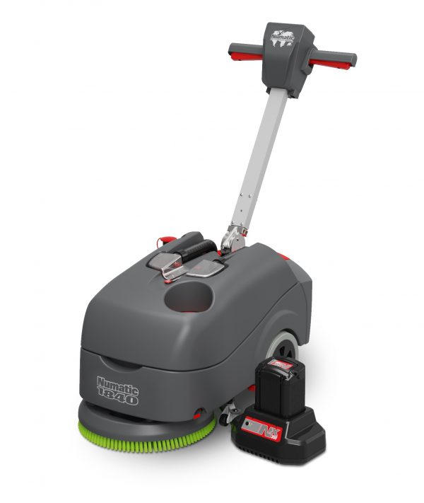 TTB1840NX scrubber dryer with battery shown seperately