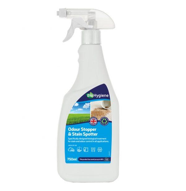 trigger bottle of Bio Hygiene odour stopper and stain stopper