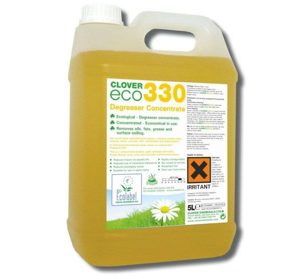 5L of Clover ECO330 Degreaser Concentrate