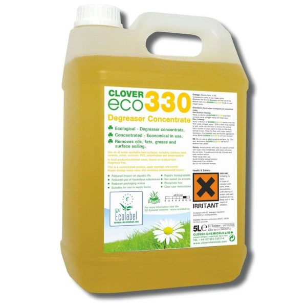 5L Clover Eco 330 Degreaser Concentrate