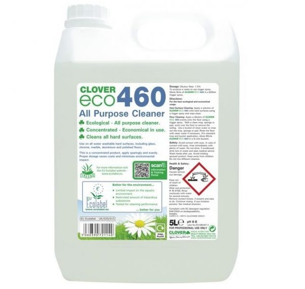 5L of Clover ECO460 All Purpose Cleaner