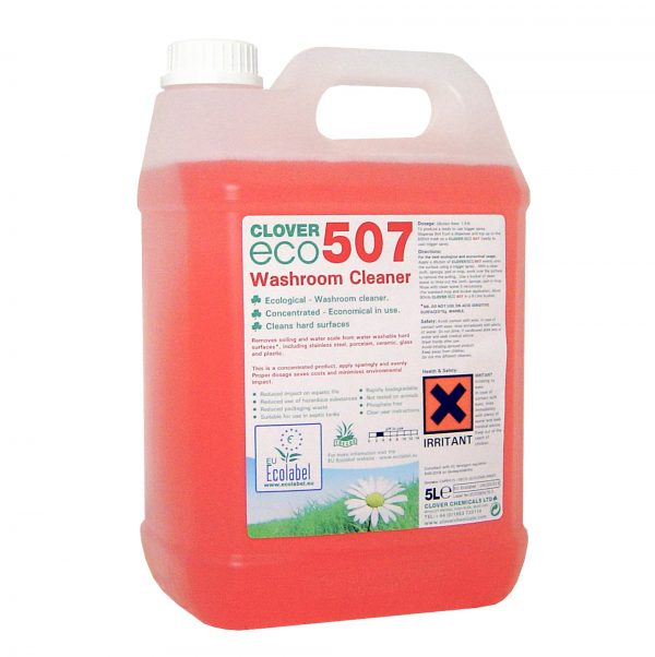 5L ECO507 Washroom Cleaner from Clover Chemicals