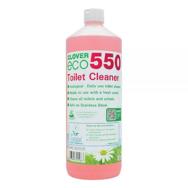 1L of Clover ECO 550 Toilet Cleaner